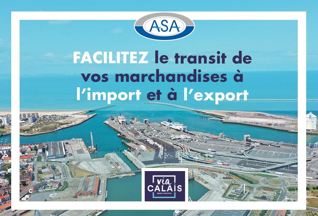 ASA, commissionnaire en douane sur le port de Calais