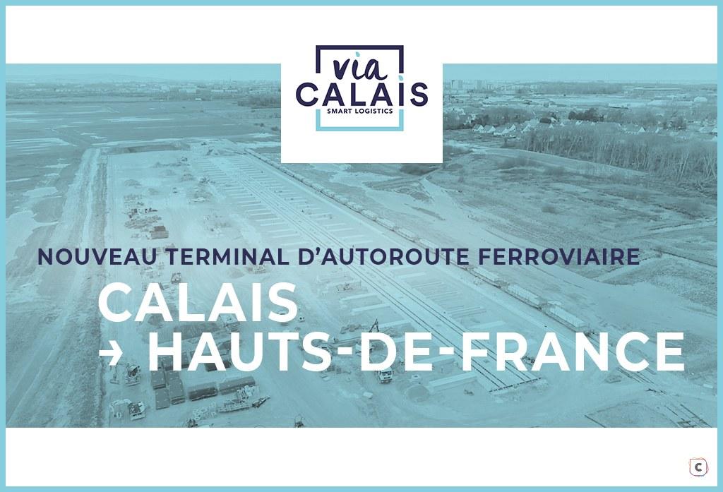 Nouveau terminal d'autoroute ferroviaire à Calais